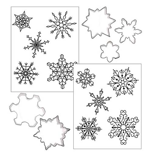 Cookie Cutter Texture Set- Snowflakes